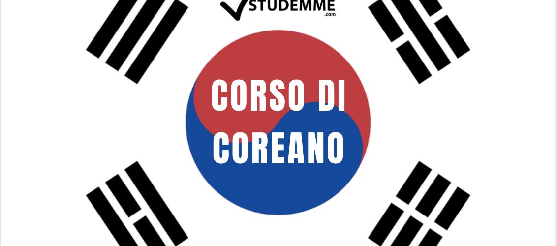 CORSO DI COREANO LIVELLO BASE