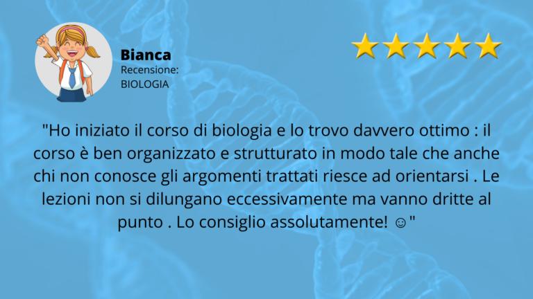 RECENSIONE TEST MEDICINA BIOLOGIA BIANCA